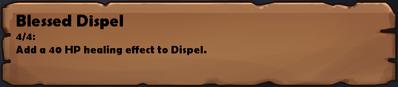 Blessed Dispel D.