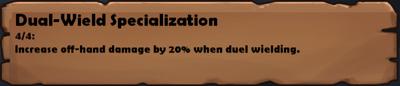 Dual-Wield Specialization 2
