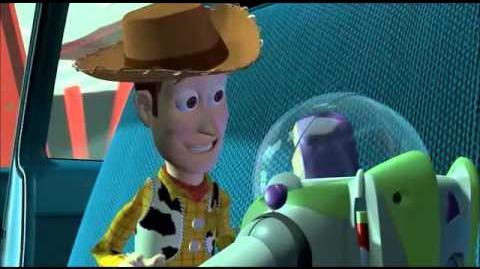 Toy Story Buzz v Woody scene
