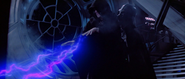 Darth Vader standing up to Emperor Palpatine