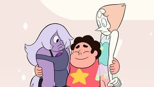 Steven Amethyst and Pearl in Giant Woman