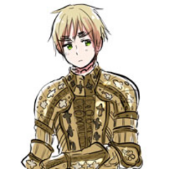 England in traditional armor.