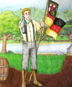 Flagge von Rheinland Pfalz by Student Rhineland