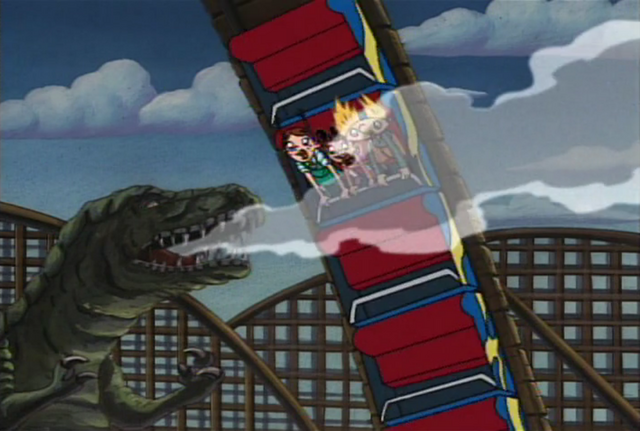 File:Arnold and girls in Dino land.png