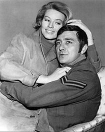 Richard Dawson and Ulla Stromstedt in Hogan's Heroes - 1968