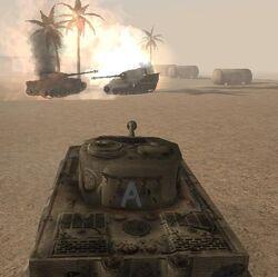 Destroying the tanks (Daiburn 2)