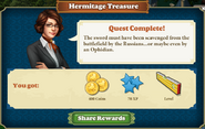 Quest Hermitage Treasure-Rewards