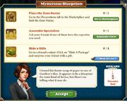 Quest Mysterious Blueprints-Tasks