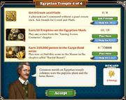 Quest Egyptian Temple 4-Tasks