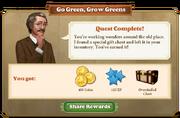 Quest Go Green, Grow Greens-Rewards