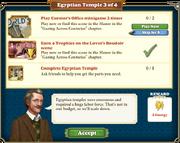 Quest Egyptian Temple 3-Tasks