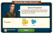 Quest The Lucky Bear Part One 6-Rewards