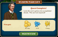 Quest It's All My Vault 1-Rewards