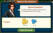 Quest Home of the Huntress-Rewards