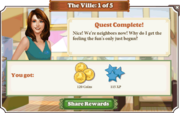 Quest The Ville 1-Rewards