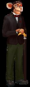 Character Bubble Monkey Neutral