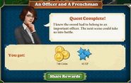 Quest An Officer and A Frenchman-Rewards