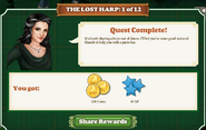Quest The Lost Harp 1 Rewards