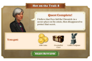 Quest Hot on the Trail 8-Rewards