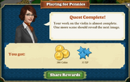 Quest Playing for Pennies-Rewards