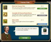 Quest Tuscan Villa-Tasks