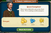 Quest A Timely Addition 2-Rewards