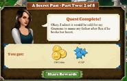 Quest A Secret Past-Part Two 2 of 8-Rewards