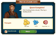 Quest Out on a Limb 1-Rewards