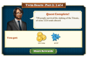 Quest Twin Hearts Part Two 1-Rewards