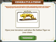Questitem Kipling's Tiger-Reward