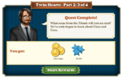 Quest Twin Hearts Part Two 3-Rewards
