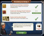 Quest Rebuilding the Bridge 3-Tasks