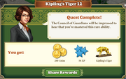 Quest Kipling's Tiger 12-Rewards
