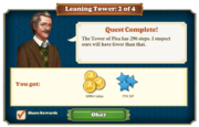 Quest Leaning Tower 2-Rewards