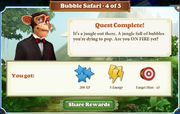 Quest Bubble Safari 4-Rewards