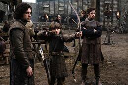 Jon, Bran y Robb HBO