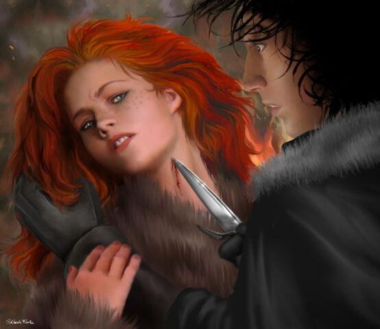 Archivo:Jon conoce a Ygritte by M.Luisa Giliberti©.jpg