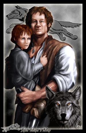 Archivo:Hodor y Bran by Amoka©.jpg