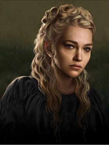 Archivo:Rhaena Targaryen, hija de Aegon III by Magali Villeneuve©.jpg