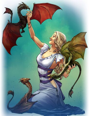 Archivo:Dany & Dragons by Mike S. Miller©.jpg