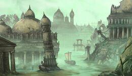At the Palace of Sorrows by Dimitri Bielak, Fantasy Flight Games©