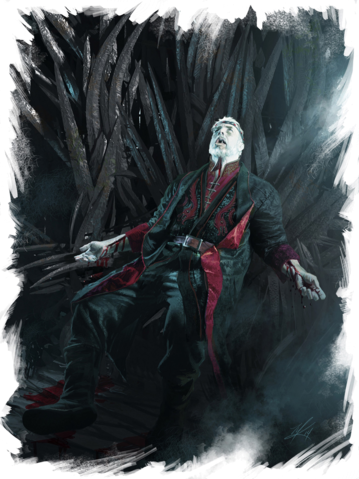 Archivo:The Death of Maegor Targaryen by Michael Komarck©.png