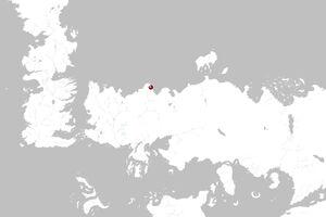 Mapa Vaes Graddakh