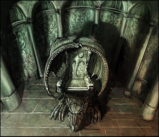 Archivo:Dragon stone throne by Marc Simonetti©.jpg
