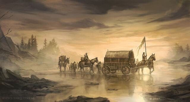 Archivo:Crossing the Mummer's Ford by Juan Carlos Barquet, Fantasy Flight Games©.jpg