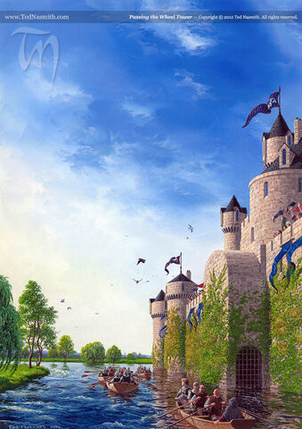 Archivo:Passing the Wheel Tower by Ted Nasmith©.jpg