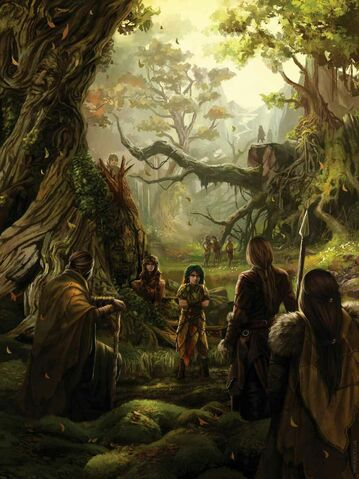 Archivo:The children of the forest and the First Men forming the Pact by Magali Villeneuve©.jpg