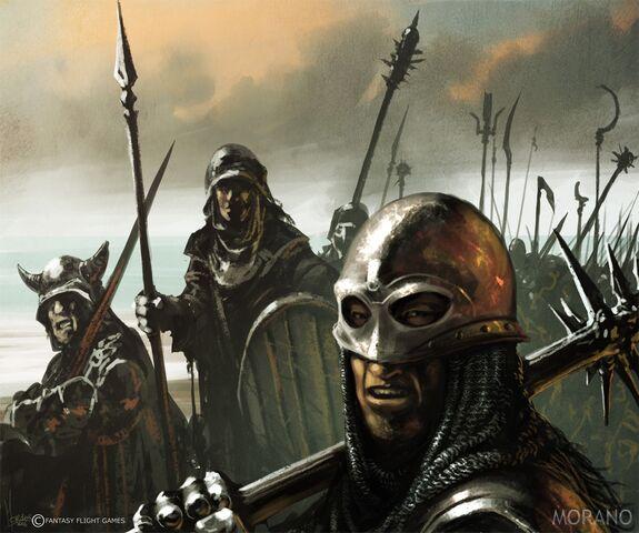Archivo:Bastards Recruits by Tomasz Jedruzek, Fantasy Flight Games©.jpg