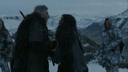 Jon mata a Qhorin HBO