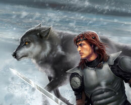 Robb and Grey Wind by quickreaver©